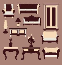 vintage furniture Interior Icon vector image vector image
