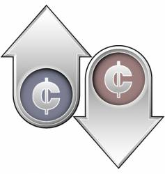 currency cents vector image