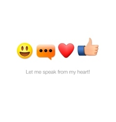 Emoticon set icons emoji symbols isolated vector image vector image