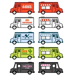 Food trucks vector image vector image