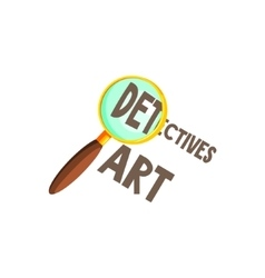 Magnifying Glass And Text vector image