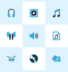 Multimedia colored icons set collection of folder vector
