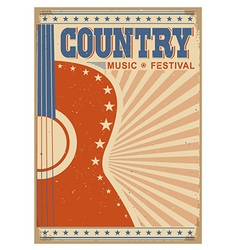 music festival background with guitar poster vector image