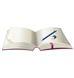 A book with a pencil and an eraser vector image vector image