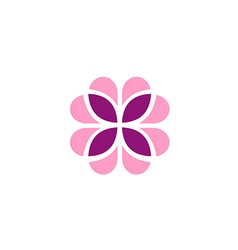 abstract flower geometry decoration logo vector image vector image