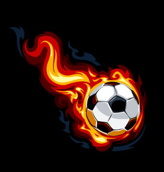 Burning soccer ball vector image vector image