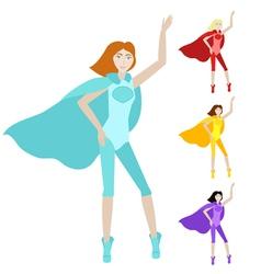 Cartoon character hero woman vector image vector image