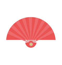 chinese handfan isolated vector image vector image