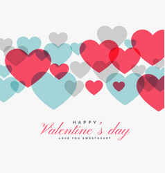 Colorful valentines day love hearts backgorund vector