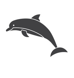 jumping dolphins icon vector image vector image