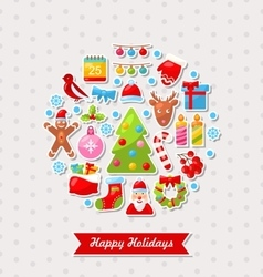 Merry Christmas Celebration Card vector image