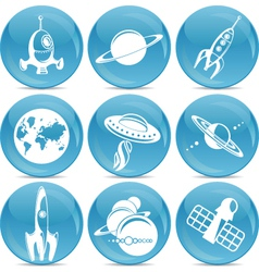 space icons vector image vector image
