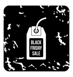 Total black friday icon grunge style vector image