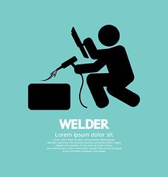 Welder Graphic Sign vector image vector image