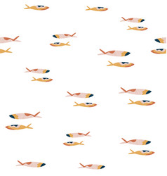 abstract seamless pattern with colorful fishes on vector image