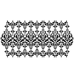 Antique ottoman turkish design ten vector image