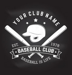 Baseball club badge on the chalkboard vector