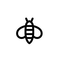 bee icon animal vector image