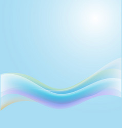 blue abstract background with bright sun vector image