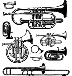 Brass instruments vector