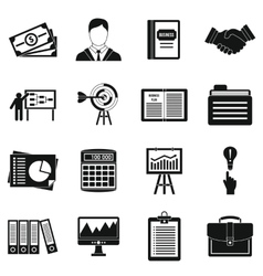 Business plan icons set simple style vector
