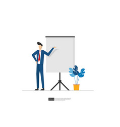 Businessman presenting marketing idea plan vector