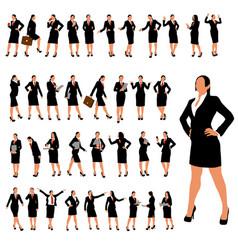 Businesswoman set 2 vector