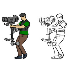carrier steady shot fights camera shake vector image
