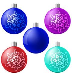 Christmas ball set new year concept vector