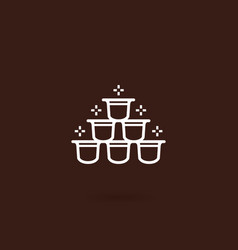 coffee capsule icon vector image