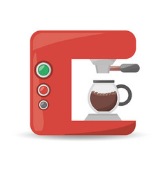 Coffee machine maker beverage menu vector