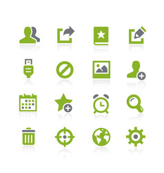 Communication interface icons natura series vector
