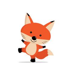 cute fox cartoon concept vector image
