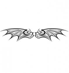 Dragon wing vector