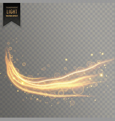 Dynamic transparent light effect in gold color vector