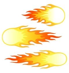 Firebals vector image