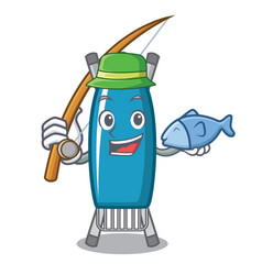 Fishing iron board mascot cartoon vector