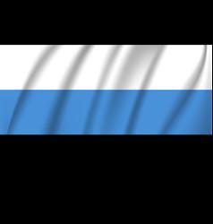 flag estonia waving in wind detail fabric vector image