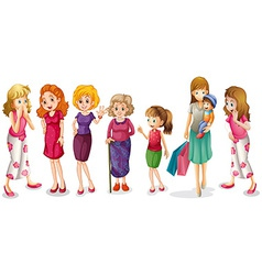 Girls all ages vector