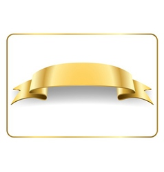 Gold satin ribbon on white 4 vector