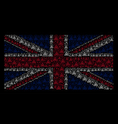 Great britain flag collage of total control eye vector
