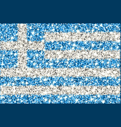 greece sparkling flag vector image