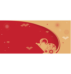 happy chinese new year design 2020 rat zodiac vector image