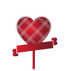 heart shaped flower vector image