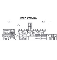 Italy l aquila architecture line skyline vector
