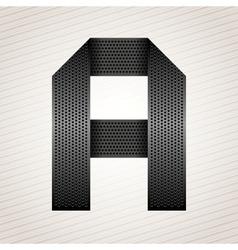 Letter metal ribbon - A vector