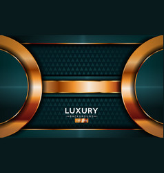 luxurious premium navy tale green abstract vector image