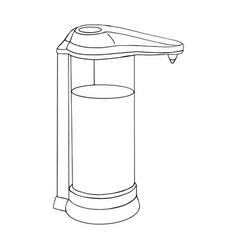 Modern automatic liquid soap dispenser close up vector
