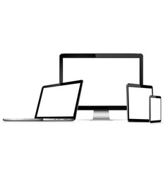 Modern technology devices vector
