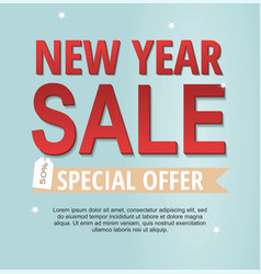 new year sale banner spesial offer vector image